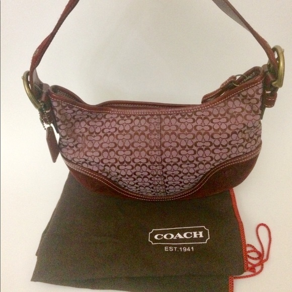 Coach Bags   Burgundy Small Suede And Leather Hobo Bag   Poshmark b8037950b0